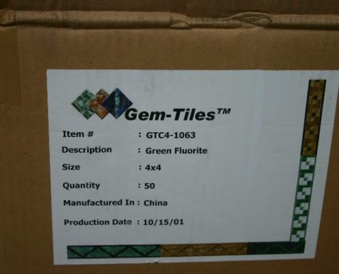 """4"""" x4"""" Fluorite Gem Tiles $150 cs."""